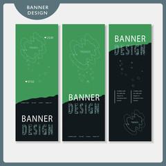 trendy banner template set design