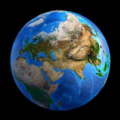 Wall Mural - Planet Earth landforms