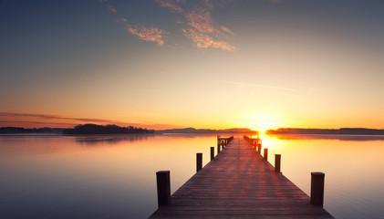 Ruhe und Stille am Holzsteg