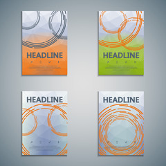 Set of vector colorful illustrations.Brochure design