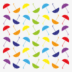 Pattern with flat umbrellas.