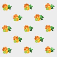 Fresh citrus with mint.