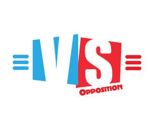 VS letters logo