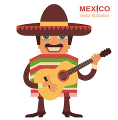 Mexican man singer with guitar