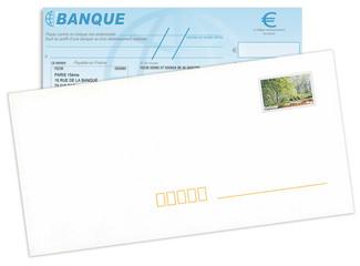 Envoi chèque bancaire