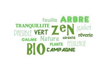 "NUAGE DE TAGS""bio,zen,vert"""