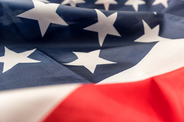 Close up american flag background