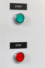 Industrial start stop buttons.