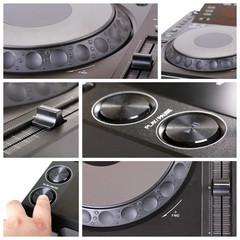 Dj cd player collage