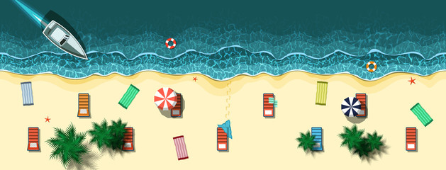 Vector illustration of Summer tropical
