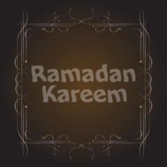 holiday illustration of Ramadan Kareem label. lettering composition of muslim holy month