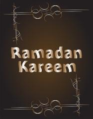 Ramadan Kareem. lettering composition of muslim holy month.