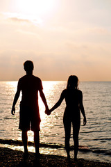 Silhouette of Young couple