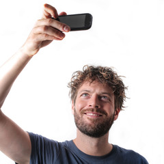 Man doing a selfie