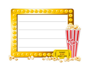 Show Marquee With Popcorn