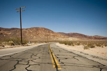 Empty road in Arizona Desert