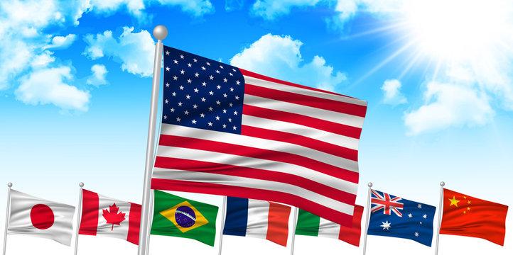 アメリカ USA  国旗