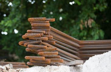 rust on Steel rebars