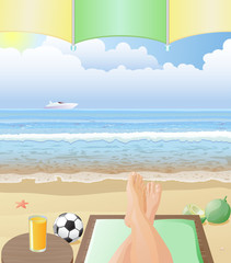 Relaxing at the Beach vector image