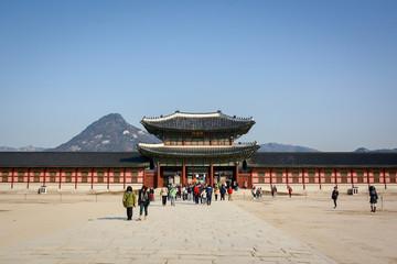 Wall Murals Beijing Gyeongbokgung Palace in Seoul, South Korea