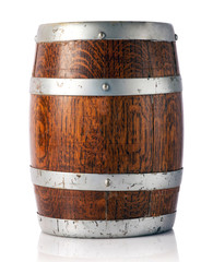 Oak barrel for storage of wine, beer or brandy