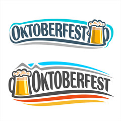 The logo on the theme of Oktoberfest
