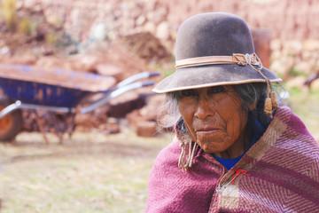 Old aymara woman
