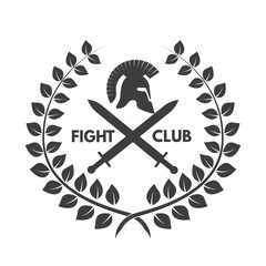 Fight club logo. Roman or Greek helmet