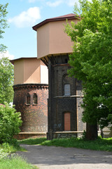 Two railway water towers (1890 and 1907). City Gusev, Kaliningra