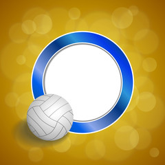 Background abstract volleyball blue yellow ball circle frame illustration vector