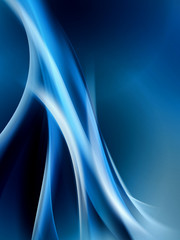 Elegant Blue Modern Abstract Waves Background