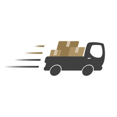 Delivery truck icon, logo