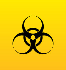Bio hazard sign, danger symbol warning