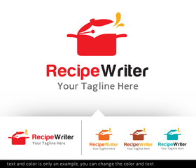 Recipe Writer Logo Design vector