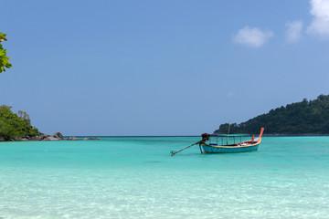 Boat in Surin Islands andaman sea