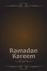 arabic calligraphy inscription ramadan kareem