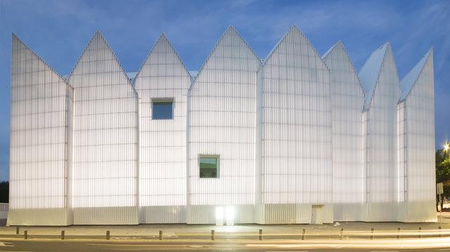 Futuristic office building in Szczecin Philharmonic