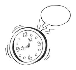 alarm clock with bubble speech