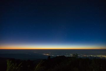 Dawn on the mountain