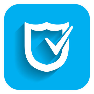 Icon of shield with checkmark