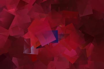 Rotes kubisches Mosaik