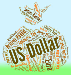 Us Dollar Shows Forex Trading And America