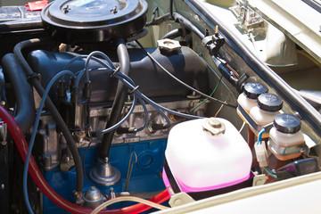 Details of vintage classic car