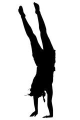 Standing gymnast
