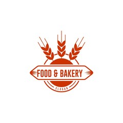 Food and bakery vintage badge retro logo template