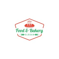 Food and bakery vintage badge restaurant logo template
