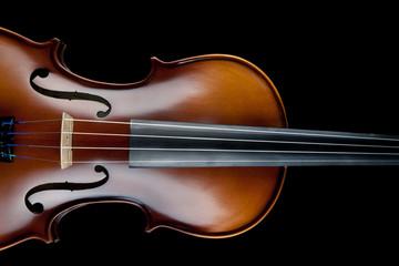 Violin Black Background