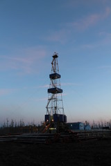 evening drilling rig
