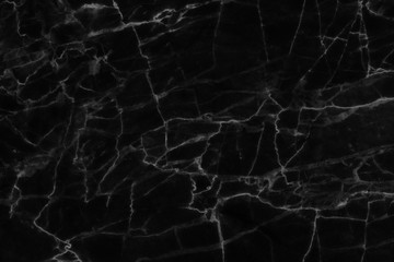 Black marble texture, detailed structure of marble in natural patterned for design.