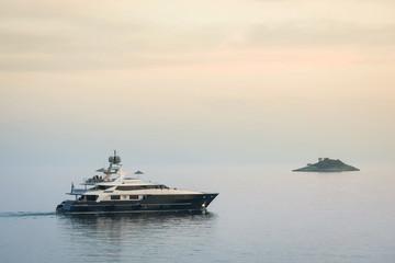 Yacht sailing in Adriatic sea